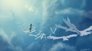 art_in_the_sky_birds_girl_fantasy_clouds_74936_2560x1440